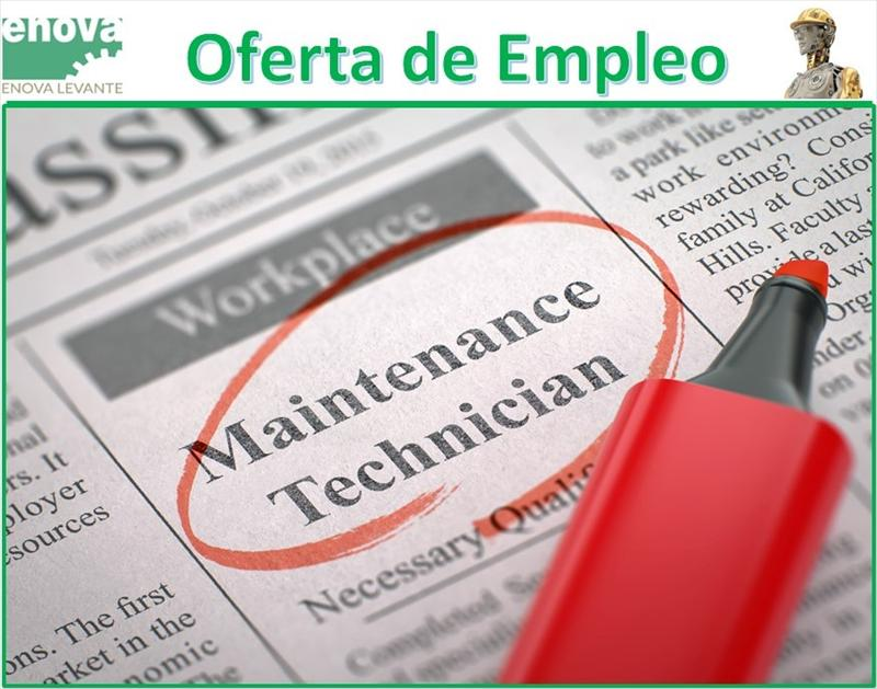 Oferta de empleo, Mantenimiento Industrial